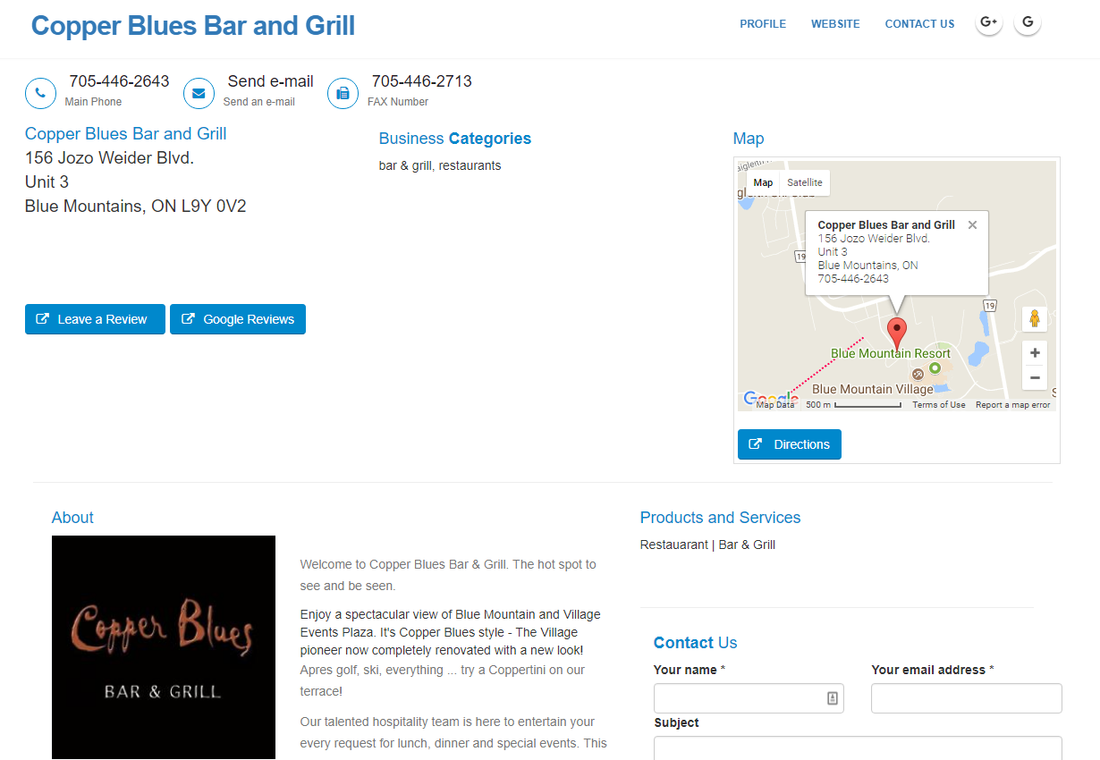 Copper Blues Bar and Grill