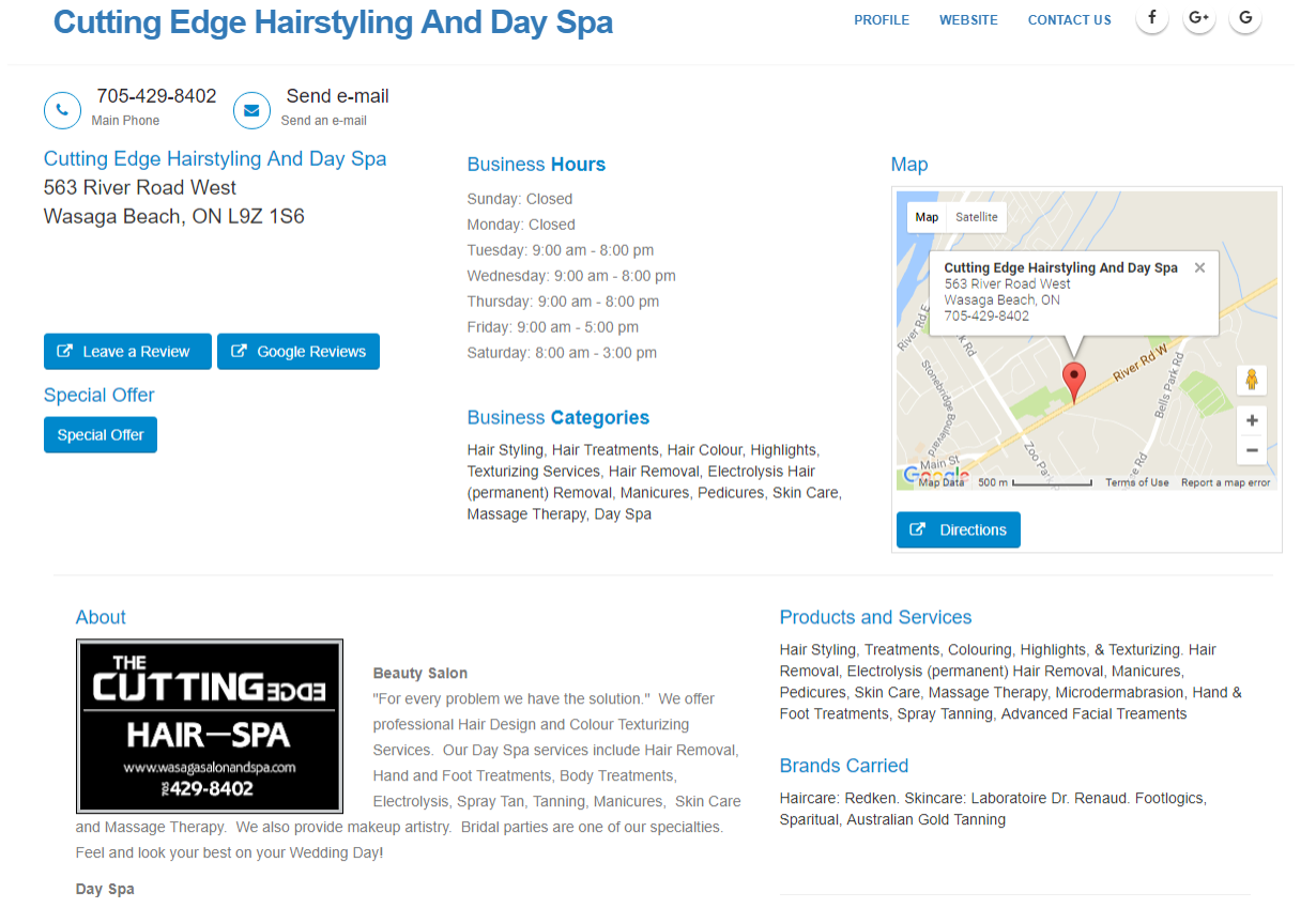 Cutting Edge Hairstyling And Day Spa